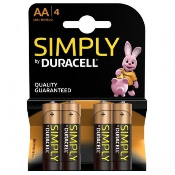 PILAS DURACELL SIMPLY AAA (LR03) BLISTER 4UDS