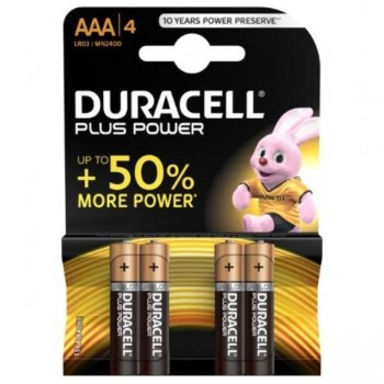 PILAS DURACELL PLUS AAA (LR03) BLISTER 4