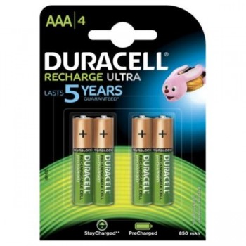 PILAS DURACELL RECARGABLES AAA (LR03) 750 MAH BLISTER 4 UDS