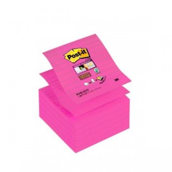 NOTAS ADHESIVAS POST-IT  Z-NOTES SUPERSTICKY 5 BLOCS ROSA FUCSIA 101x101MM (70005271443)