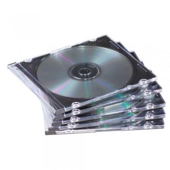 CAJAS CD SLIM TRANSPARENTE PACK DE 10 UDS. FELLOWES