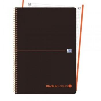 CUADERNO MICROPERFORADO EBOOK 1 MICROP A4+ 80H C/5 T.PLASTICO NG BLACK'N COLORS NARANJA OXFORD