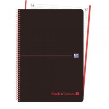CUADERNO MICROPERFORADO EBOOK 1 MICROP A4+ 80H C/5 T.PLASTICO NG BLACK'N COLORS ROJO OXFORD