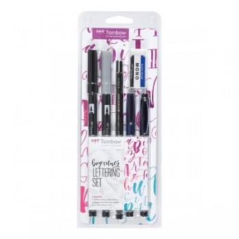 ROTULADORES SET LETTERING BEGINNER - ABT-N15, ABT-N75, MONO-100-3H, WS-BH, OS-TME33, PE-01A TOMBOW
