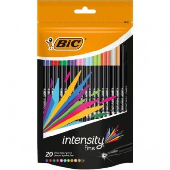 ROTULADOR BIC INTENSITY 0,4MM BLITSER 20UDS