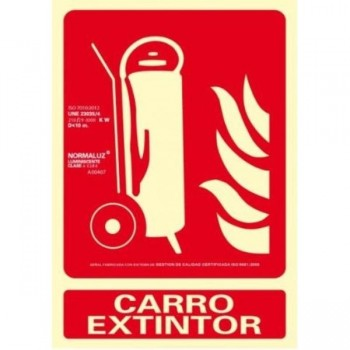 PLACA NORMALIZADA PVC CARRO EXTINTOR 210X300 ARCHIVO 2000
