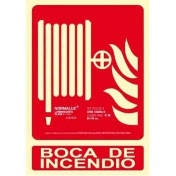 PLACA NORMALIZADA PVC BOCA DE INCENDIO 210X300 ARCHIVO 2001