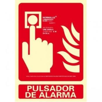 PLACA NORMALIZADA PVC PULSADOR DE ALARMA 210X300 ARCHIVO 2000