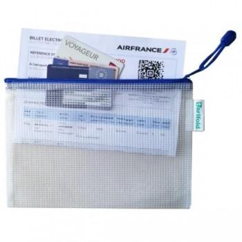 BOLSA PVC CREMALLERA AZUL A5 APAISADO - PACK 8 UDS