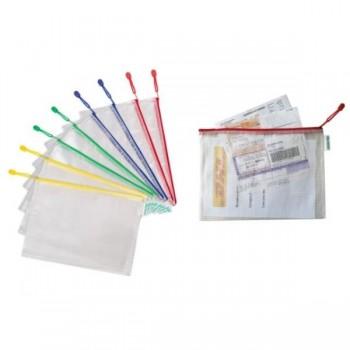 BOLSA PVC CREMALLERA SURTIDO A4 APAISADO - PACK 8 UDS