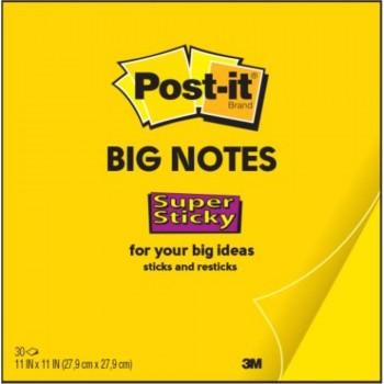 NOTAS ADHESIVAS POST-IT  SUPERSTICKY BIG NOTES 30HJ 27,9X27,9CM (7100135782)