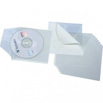 FUNDA CD's/DVD's 1/8 SIN TAL. PP ADHESIVAS (10 U.) GRAFOPLAS