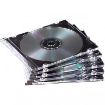 CAJAS CD SLIM PLASTICO PACK 25 UDS. FELLOWES
