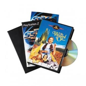 ESTUCHE DE DVD'S STANDARD NEGRO. PACK 5 UDS. FELLOWES