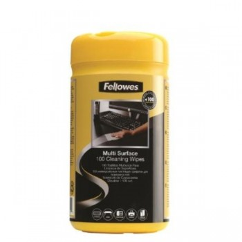 TOALLITAS LIMPIADORAS SUPERFICIES DISPENSADOR 100 UDS FELLOWES
