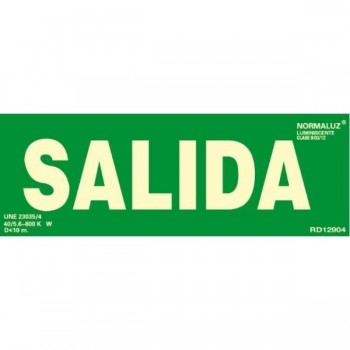 PLACA NORMALIZADA PVC SALIDA VERDE 224x327 2 UDS. ARCHIVO 2000