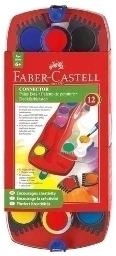 ACUARELAS FABER-CASTELL CONNECTOR ESTUCHE DE 12 COLORES + BLANCO