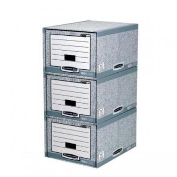 CAJON ARHIVADOR CARTON GRIS/BLANCO BANKERS BOX