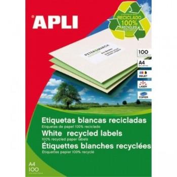 ETIQUETAS A4 RECICLADAS 70x35 100H. 2400U APLI