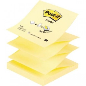 NOTAS ADHESIVAS POST-IT  Z-NOTAS AMARILLO CANARY 100H 76x76MM (FT510000092)