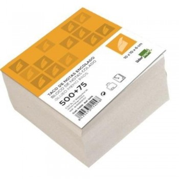TACO BLANCO ENCOLADO 100X100MM 80GR 500+75H LIDERPAPEL