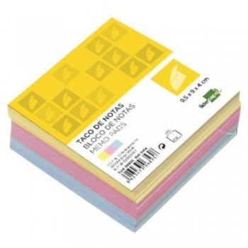 TACO COLORES ENCOLADO 95X90MM 80GR 400H LIDERPAPEL