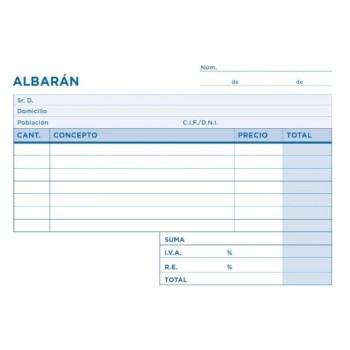 TALONARIO ALBARAN OCTAVO DUPLICADO APAISADO T267 LIDERPAPEL