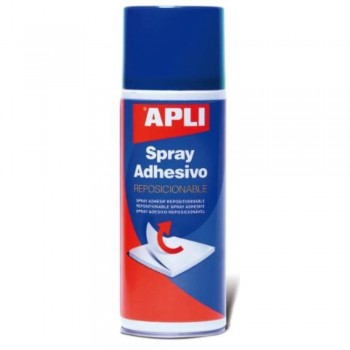 PEGAMENTO SPRAY ADHESIVO REPOSICIONABLE 400ML APLI