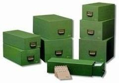 FICHERO CARTON 1000 FICHAS 65X95MM (Nº1) LIDERPAPEL