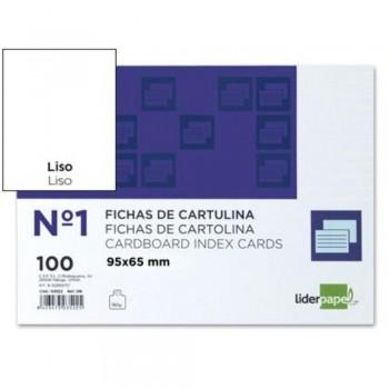 FICHAS LISA Nº1 65X95MM PAQUETE 100U. LIDERPAPEL