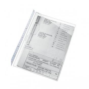 FUNDAS MULTITALADRO PARA PLANOS PVC 80 MICRAS 4 TALADROS CJ.100U. ESSELTE