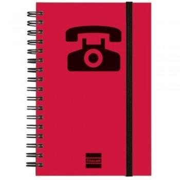 LISTIN TELEFONICO ESPIRAL MAGENTA 10X15CMM 24 PESTAÑAS FINOCAM