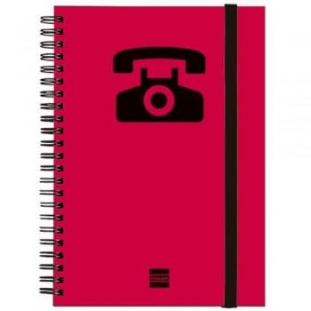 LISTIN TELEFONICO ESPIRAL MAGENTA A5 24 PESTAÑAS FINOCAM