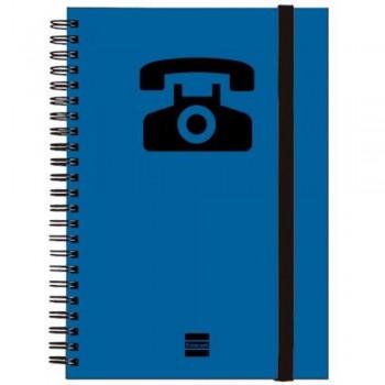 LISTIN TELEFONICO ESPIRAL AZUL A5 24 PESTAÑAS FINOCAM