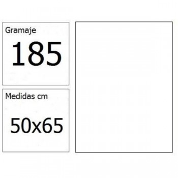 CARTULINA IRIS 50X65 185G BLANCO 25H.