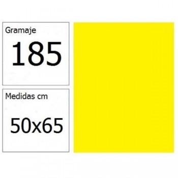 CARTULINA IRIS 50X65 185G AM.LIMON 25H.