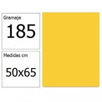 CARTULINA IRIS 50X65 185G AM.CANARIO 25H.