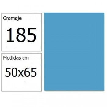 CARTULINA IRIS 50X65 185G AZ.CIELO 25H.