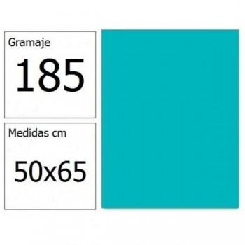 CARTULINA IRIS 50X65 185G AZ.TURQUESA 25H.