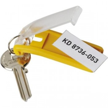 LLAVEROS KEY CLIP AMARILLO 6 UDS DURABLE