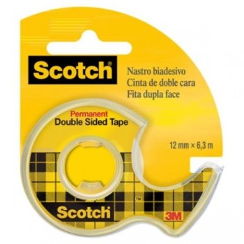 CINTA ADHESIVA DOBLE CARA SCOTCH  6Mx12MM EN PORTARROLLOS