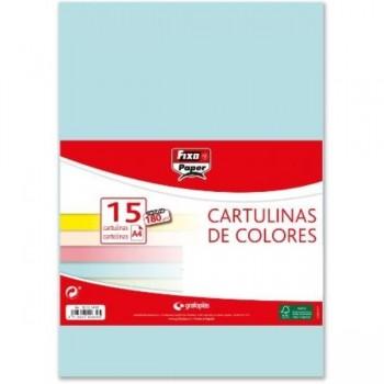 CARTULINAS PACK 15 H 180GR A4 AZUL CIELO GRAFOPLAS