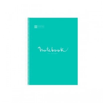 CUADERNO MICROP A4 120H 90G C/5 PP NOTEBOOK 5 EMOTIONS TURQUESA MIQUELRIUS