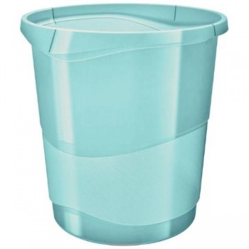 PAPELERA COLOUR ICE AZUL 14L ESSELTE