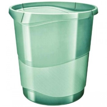 PAPELERA COLOUR ICE VERDE 14L ESSELTE