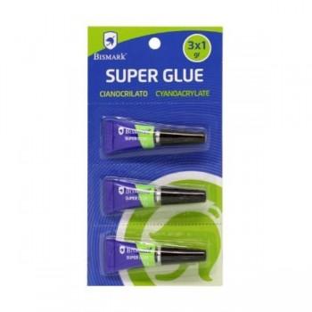 PEGAMENTO SUPER-GLUE 1G.BLISTER 3 UDS. POESSA