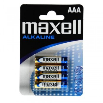 PILAS ALCALINAS AAA (LR03) BLISTER 4U. MAXELL