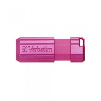 USB DRIVE 2.0 16GB HI-SPEED STORE'N'GO PINSTRIPE RETRÁCTIL COLOR ROSA INTENSO VERBATIM