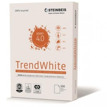PAPEL A4 80G 500H - Steinbeis Trend White