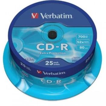 CD-R VERBATIM 700Mb 52X Printable(Tarrina 25 Ud)